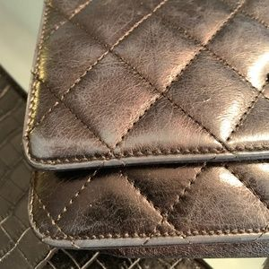 CHANEL Bags - Authentic CHANEL quilted cross-body wallet/purse!